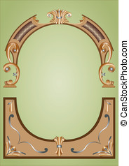 woodcarving - Frame background woodcarving