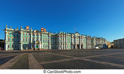 View of St. Petersburg. The Winter Palace from Palace Square