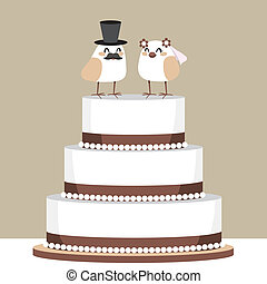 Birds Love Wedding Cake - Beautiful classic wedding cake...