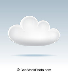 Cloud  icon. - Cloud icon. Vector illustration