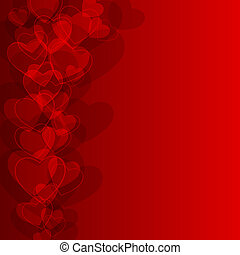 Abstract background to the Valentine's day