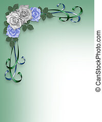 Roses Blue and white Wedding