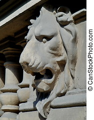 Lion head, architecture detail