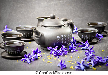 Tea with flowers - China tea ceremony