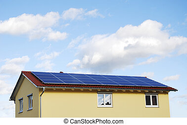 Modern roof - Green Energy - Electricity generation with...