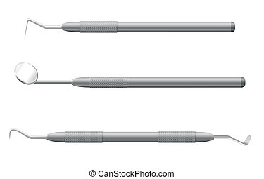 dental instruments vector illustration isolated on white...