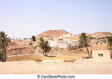 tunisia - typical country in the desert in the tunisia
