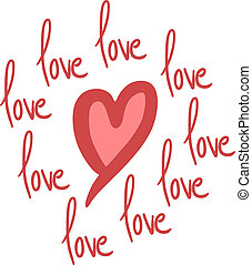 Love message - Creative design of love message