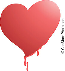 Heart dripping - Creative design of heart dripping