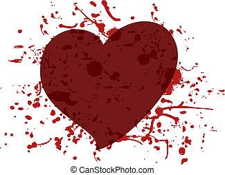 Heart blood - Creative design of heart blood