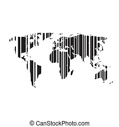 the world map. Vector illustration