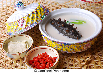 food in china??sea slug and wolf berry - china delicious...