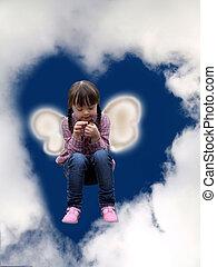 Little girl in the sky