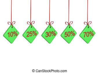 Discount percents