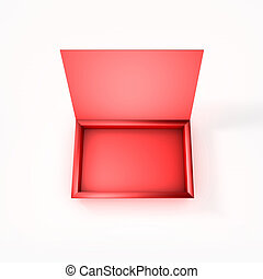 Empty Red Chocolate Box - 3D Illustration of Empty Red...
