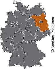 Brandenburg in Deutschlandkarte