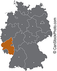 Rheinland Pfalz in der Deutschlandkarte