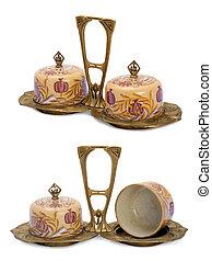 Antique  porcelain set  in modern style.