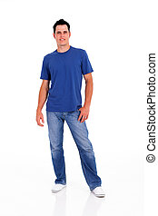 casual young man full length portrait