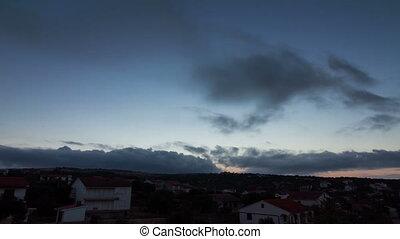 Sunrise cloudscape - Beautiful full HD time lapse video of a...