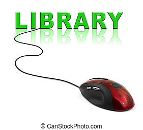 Computer mouse and word Library