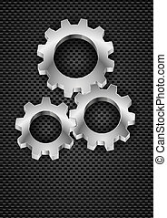 Gearwheel - Realistic Gearwheel Illustration on black for...
