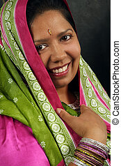 East Indian woman - A beautiful Indian woman wearing a...
