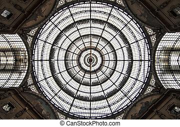 Milan Galleria - dome of Vittorio Emanuele Galleria in...