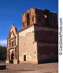 Tumacacori Mission Ruins - Ruins of Tumacacori Mission in...