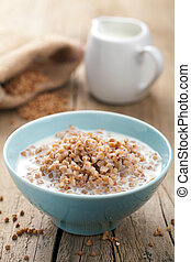 buckwheat groats with milk