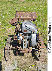 old agriculture motor in farm
