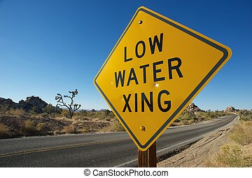 Joshua Tree Low Water Xing - Low Water Xing Sign,Joshua Tree...