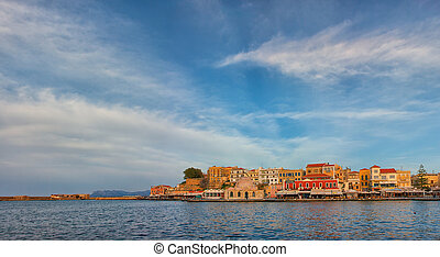 Chania Venetia Harbour - CHANIA, GREECE - MARCH 3: The old...