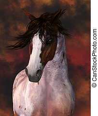 Horse Portrait Greeting Card / Wall Art