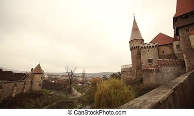 Medieval castle - The Hunyad Castle in Hunedoara, Romania