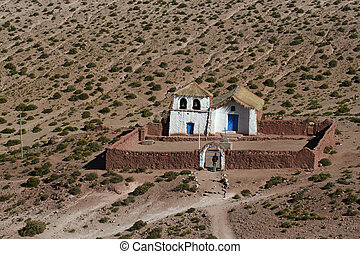 Altiplano church at Machuca - Typical church in altiplano...