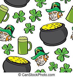 Seamless St. Patricks Day Stuff - A seamless pattern of well...
