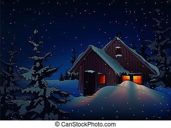 Snowy Christmas 2 - background illustration