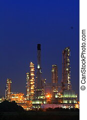 oil refinery plant - Petrochemical oil refinery plant during...