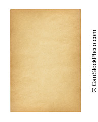 Antique Blank Paper Isolated