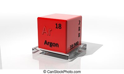Argon 3d chemical element of the periodic table
