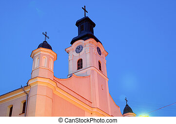 Catholic cathedral church in Uzhgorod - Krestovozdvizhensk...