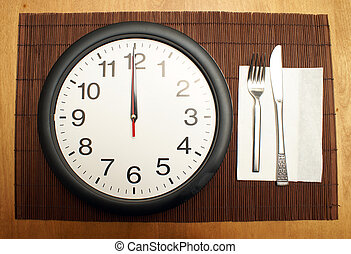 Lunchtime - This clock reminds us to eat a healthy lunch at...