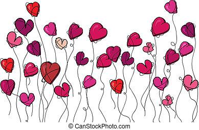 Valentine flowers love heart - Valentine day spring flowers...