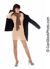 woman with topcoat