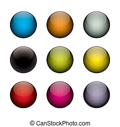 colorful orbs - An arrangement of colorful orbs / circles...