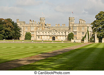 English stately home - The magnificent Castle Ashby in...