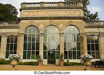 Orangery - A classic English orangery in Northamptonshire,...