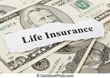 Life Insurance - Headline of Life Insurance for background