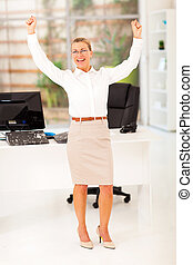cheerful senior businesswoman